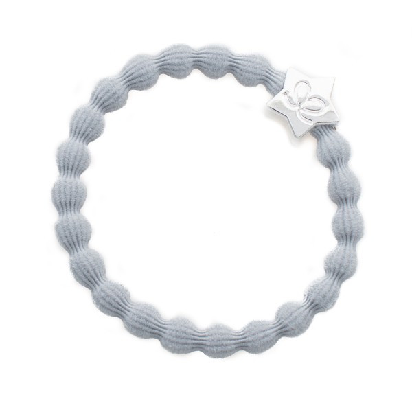 ByEloise Silver Heart · Mist Grey · Haargummi