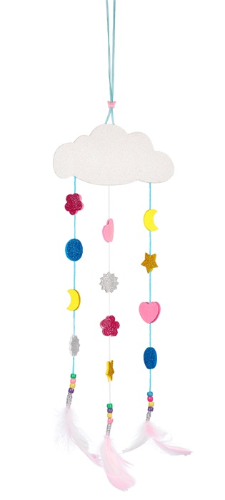 Souza for kids  Bastelset DIY Traumfänger Design Wolke mit Perlen und Federn