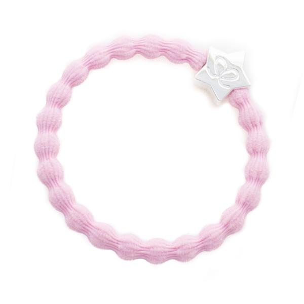 ByEloise Silver Heart · Soft Pink · Haargummi
