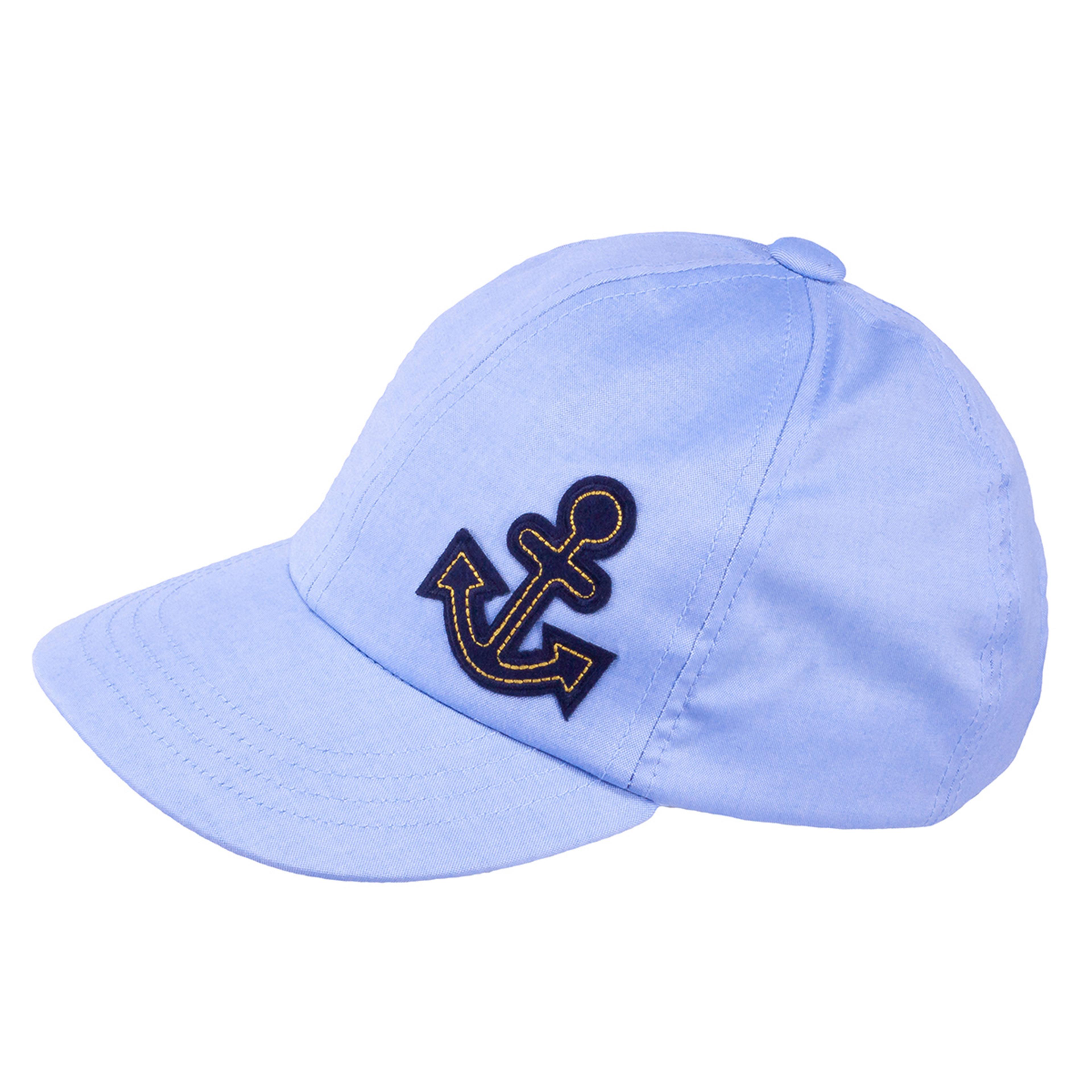 TUTU Kindermütze - Sommermütze Kappe Hellblau mit Anker Kopie