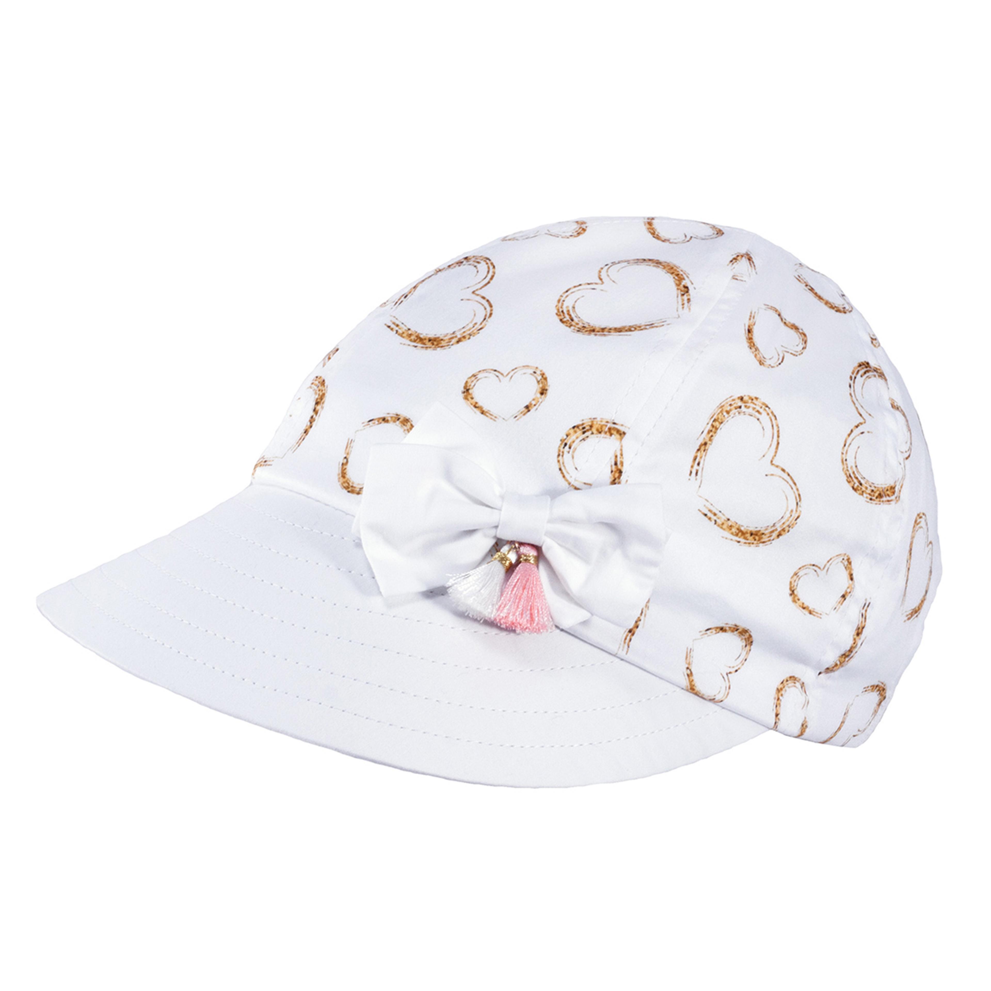 TUTU Kindermütze - Sommermütze Kappe  mit Herzen und Schleife
