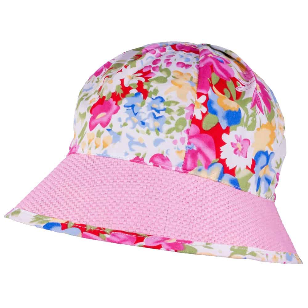 TUTU Kindermütze - Sommermütze  mit Blumenmuster