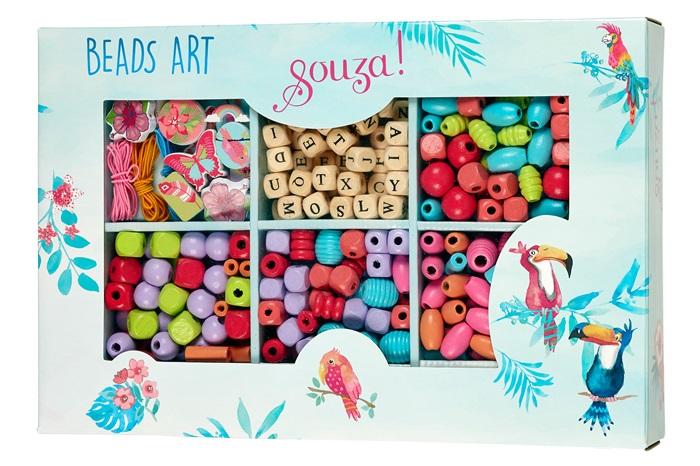 Souza for Kids Bastelset Perlen Garten in Geschenkverpackung mit 280 bunten Perlen