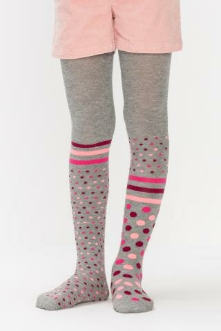 Penti Strumpfhose Super Dot grau pink gepunktet