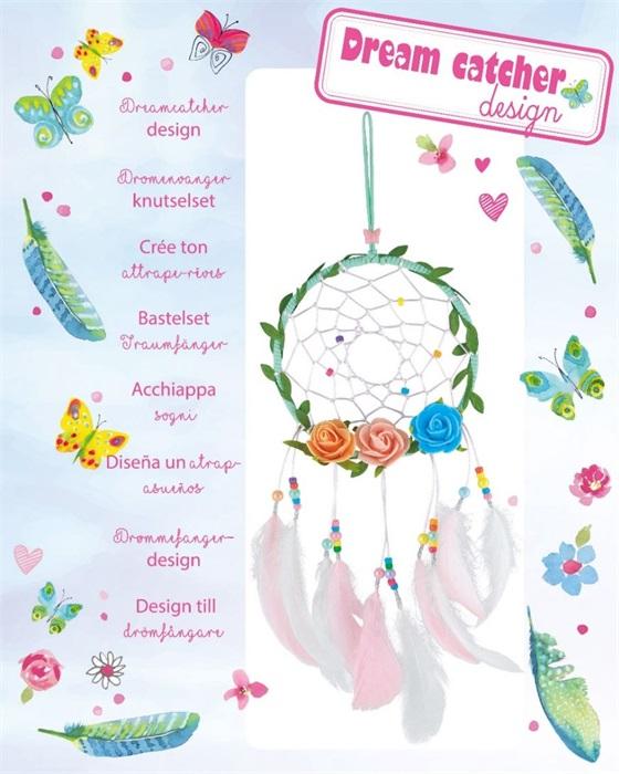 Souza for kids Bastelset DIY Traumfänger mit Rosen, Perlen und Federn