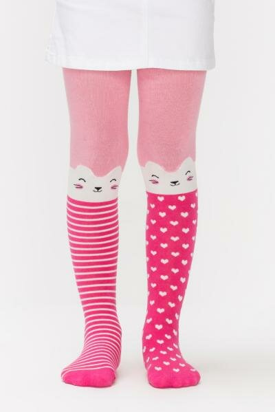 Penti Strumpfhose Kitten - Katzen pink mit Herzen