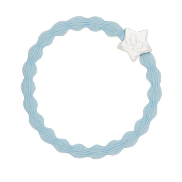 ByEloise Silver Heart · Sky Blue · Haargummi