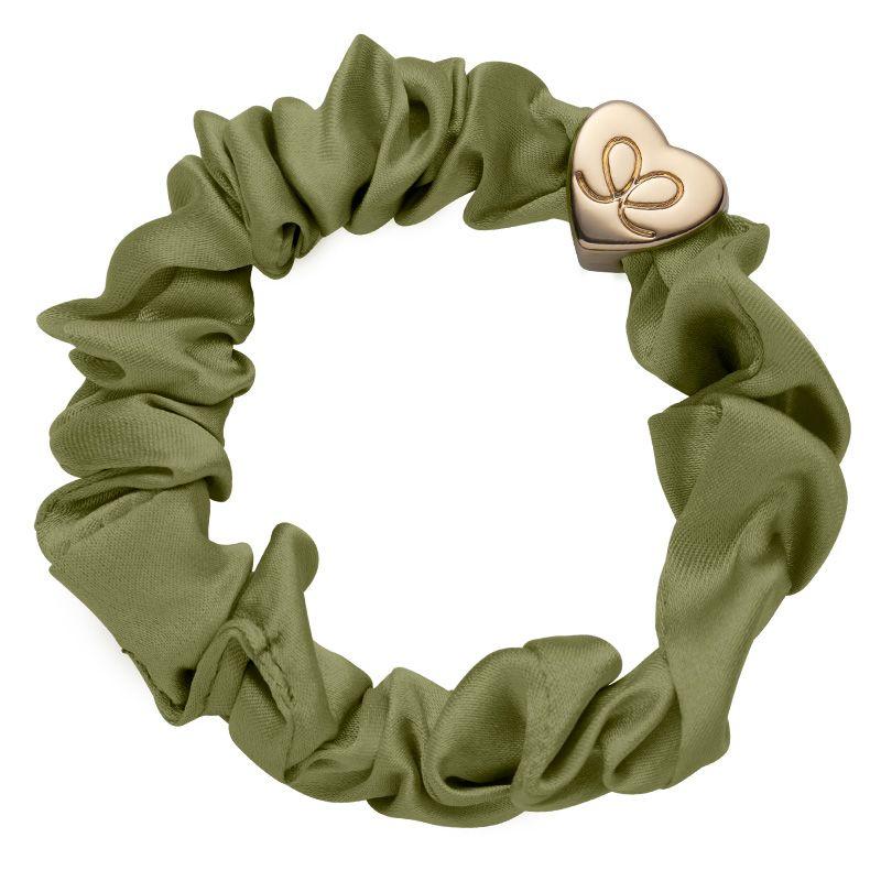ByEloise Silk Scrunchie · Olive Green · Haargummi